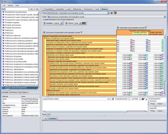 Exportación a Excel de los datos del informe XBRL