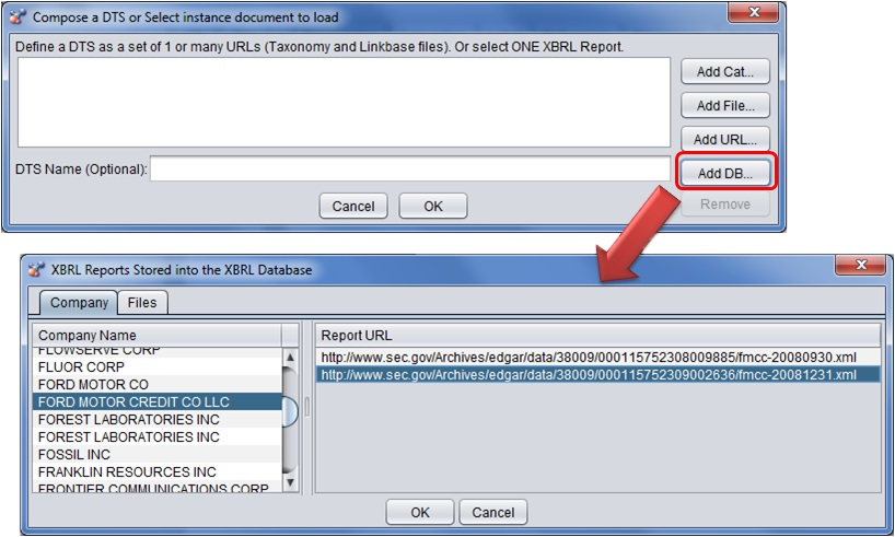 open xbrl documents stored in the XBRL Database