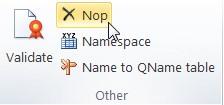 """Vista del plugin de Excel. En la sección de """"Others"""" se encuentra el boton """"NOP"""" instruccion para añadir comentarios al Excel"""